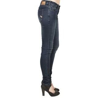 Parasuco Medium Rise Super Skinny Jeans in Indigo - 27