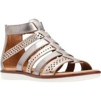 71714a949244 Clarks Women s Kele Lotus Gladiator Sandal Metallic Multi Full Grain Leather