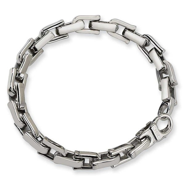 Chisel Polished Stainless Steel Bracelet - 8.5 Inches