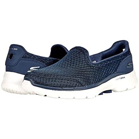Skechers Women's GO Walk 6-Big Splash Sneaker, Navy/White