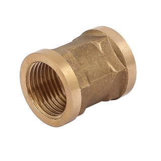 1/2BSP Female Thread Brass Straight Double Pass Connector Pipe Fitting Coupler