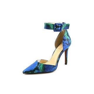 Jessica Simpson Cayna Women Pointed Toe Canvas Multi Color Heels