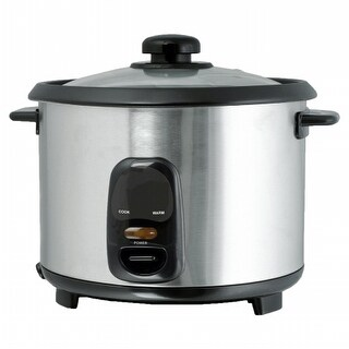 Brentwood TS-20 10 Cup - 1.8 Liter - Rice Cooker - Stainless Steel