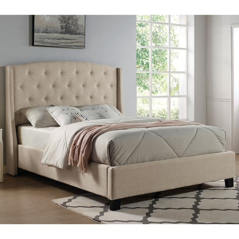 Furniture of America Alam Transitional Button Tufted Panel Bed