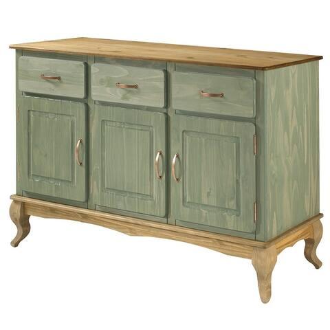 Wood Buffet Sideboard Green Furniture Dash