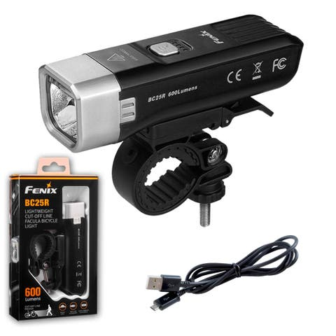 Fenix BC25R 600 Lumen Anti-Glare Rechargeable Bicycle Headlight