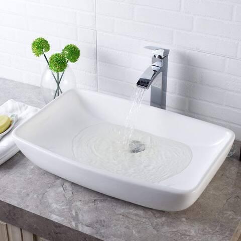 "24""x15"" Rectangle Ceramic Bathroom Vessel Sink"