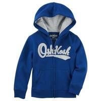 OshKosh B'gosh Baby Boys' Logo Fleece Hoodie, Blue, 12 Months