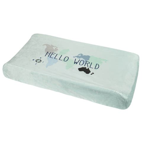 """One World Collection Boys' """"Hello World"""" Changing Pad Cover - OSZ"""