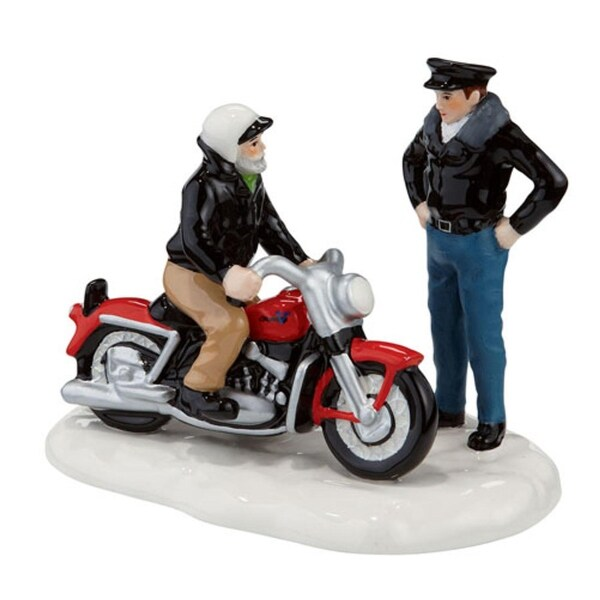 """Department 56 Snow Village """"A New '56 Harley-Davidson KH"""" Table Piece #4020224 - multi"""