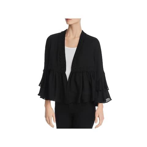 Kobi Halperin Womens Nessa Peplum Jacket Silk Bell Sleeves