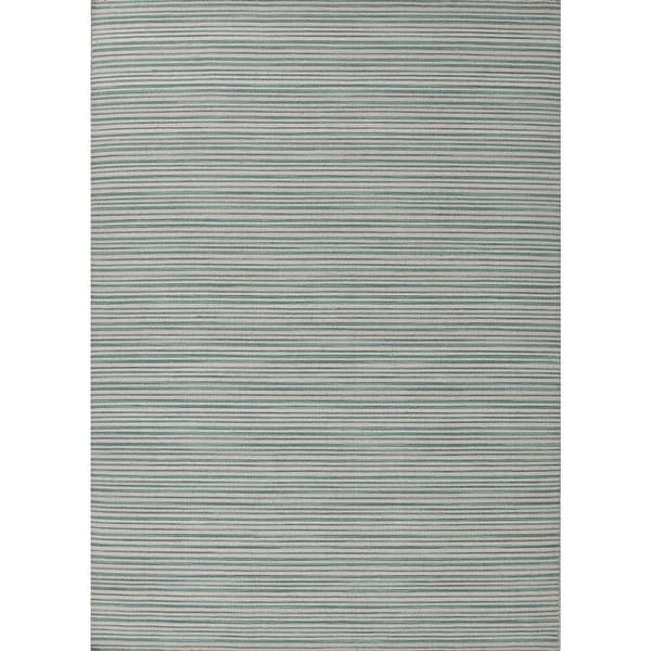 Shop 5' X 8' Teal And Whitecap Gray Pacifco Flat-Weave