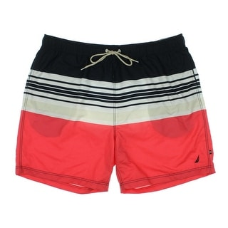Nautica Mens Striped Quick Dry Swim Trunks - XXL