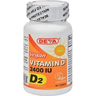 Deva Vegan Vitamins Vitamin D 2400Iu Vegan (90 Tablets)