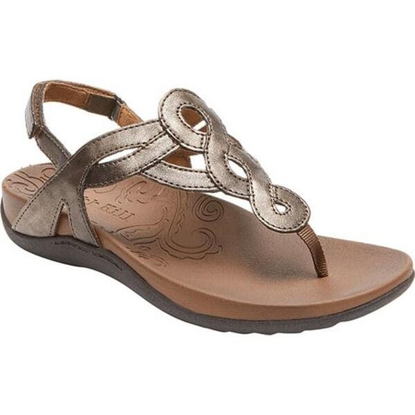 Rockport Women's Cobb Hill Ramona Thong Sandal Bronze Synthetic