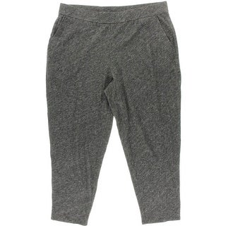 Eileen Fisher Womens Plus Heathered Cotton Lounge Pants - 1X