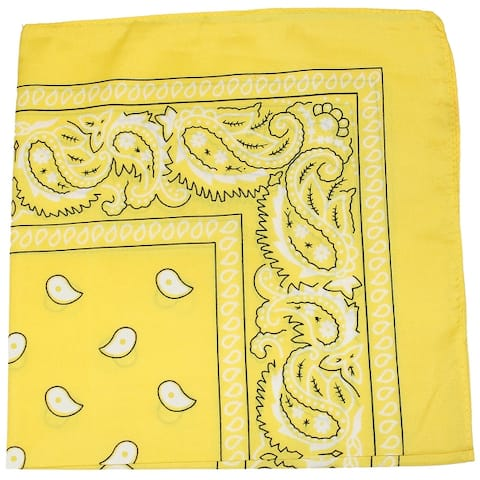 12 Pack Uni Style Apparel 100% Cotton 22 x 22 Inch Paisley Printed Bandana - One Size Fits Most