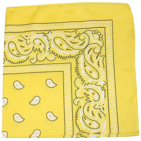 Pack of 30 Daily Basic 100% Polyester 22 x 22 Paisley Printed Bandanas - One Size Fits Most