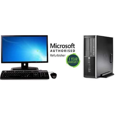 "HP 8200 SFF, intel i5(2400) 3.1GHz, 8GB, 2TB, Windows 10 Pro, plus 22"" LCD Refurbished"