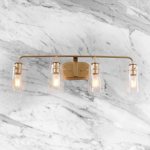 "Mid-Century 4-lights Bathroom Vanity Lighting Wall Sconce for Powder Room - L 31""x E 5.5""x H 9"""