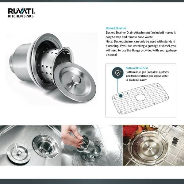 Ruvati Rvu6100 Forma Single Basin Kitchen Sink With Basin Rack And Stainless Steel Overstock 20680340