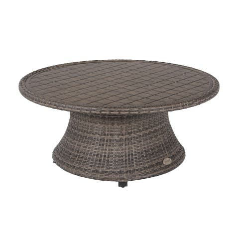 Barcalounger Outdoor Living Captiva Isle 45-inch Round Aluminum Coffee Table