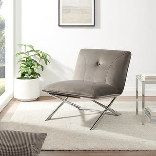 Link to Corvus Soloway Velvet Upholstery Accent Slipper Lounge Chair Similar Items in Living Room Chairs