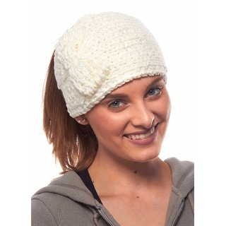 Crystal Camellia Knit Winter Headband