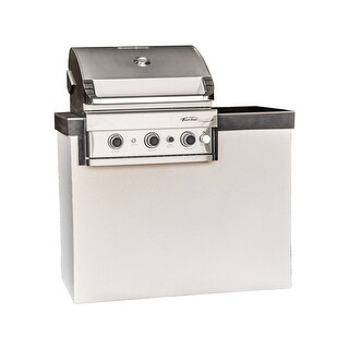 Barbeques Galore Lindsay 4-Foot Island with Turbo Elite or Turbo 3-Burner Gas Grill and Access Door