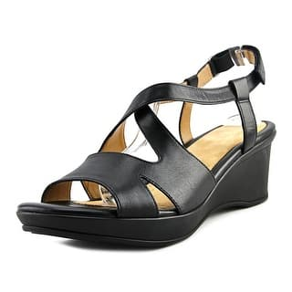 Naturalizer Villette Open Toe Leather Wedge Sandal|https://ak1.ostkcdn.com/images/products/is/images/direct/3faaec00fb66fa50a11f8878d365fcfe19fe2620/Naturalizer-Villette-Women-Open-Toe-Leather-Black-Wedge-Sandal.jpg?impolicy=medium