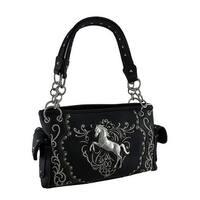 Polished Pony Embroidered Western Trim Concealed Carry Handbag
