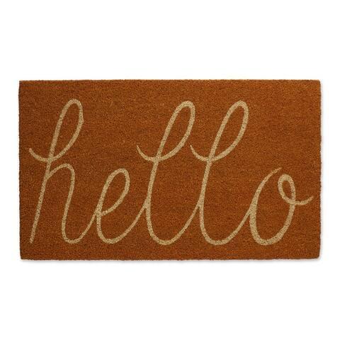 DII Yellow Hello Doormat