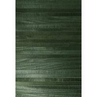 Brewster 63-54731 Michiko Green Grasscloth Wallpaper - N/A