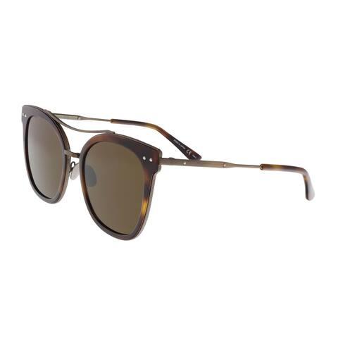 Bottega Venetta BV0064/S 002 Havana Round Sunglasses - 53-20-140