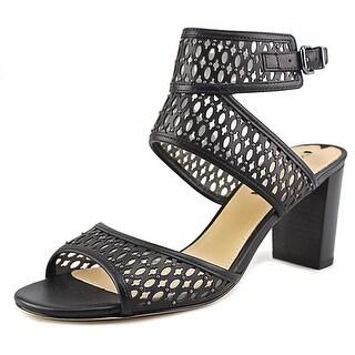 Via Spiga Weslyn Women  Open Toe Leather Black Sandals