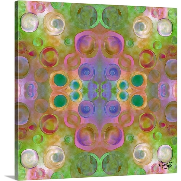 """Green Pattern II"" Canvas Wall Art"