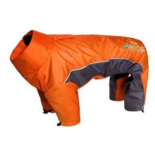 Helios Blizzard Full-Bodied Adjustable and 3M Reflective Dog Jacket, Orange, Med