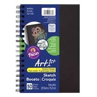 Art1st Create-Your-Own Sketch Diary, 9 x 6 Inches, Black Cover
