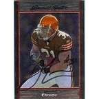 Jamal Lewis Cleveland Browns 2007 Bowman Chrome Autographed Card Nice Card This item comes with a