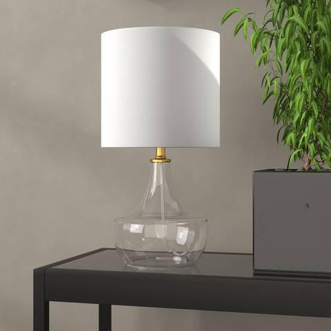 Zola Clear Glass Teardrop Mini Lamp