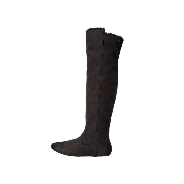 Roxy Womens Shawnee Suede Round Toe Knee High Fashion Boots