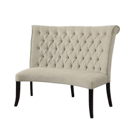 Furniture of America Sheila Contemporary Button Tufted Loveseat Bench