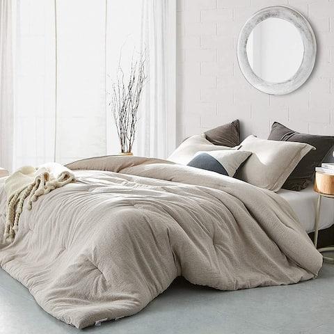 Heathered Rustic Gray Oversized Comforter - 100% Yarn Dyed Cotton