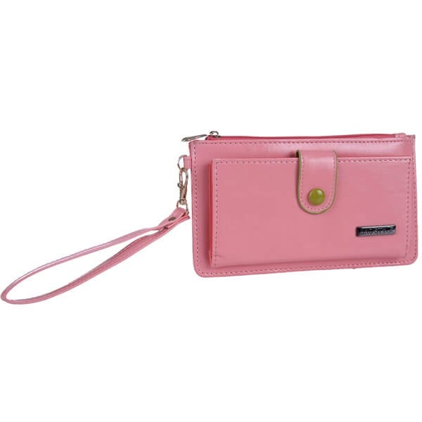 Mad Style Pink Button-Down Wristlet Wallet
