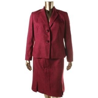 Le Suit Womens St Tropez Tweed 2PC Skirt Suit
