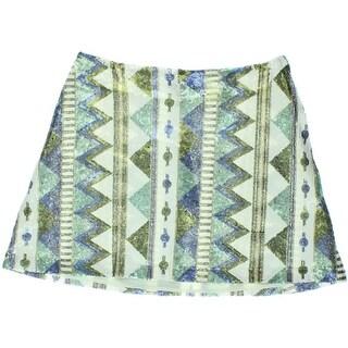 Aqua Womens Mini Skirt Sequined Lined