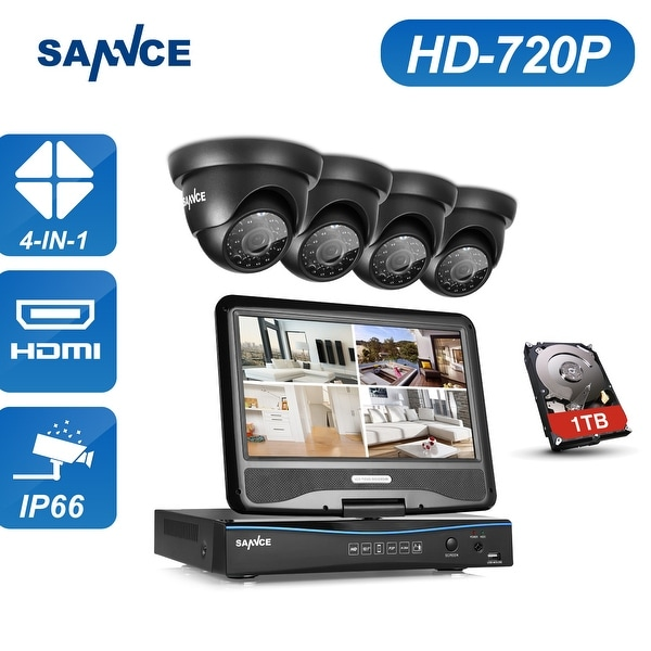 SANNCE 8CH 720P HD Video Security Surveillance Cameras System