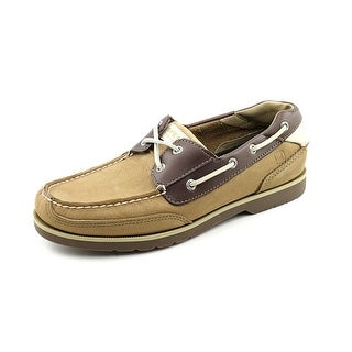 Sperry Top Sider Stingray 2 Eye Men Moc Toe Leather Brown Boat Shoe