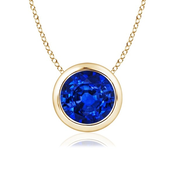 Angara Sapphire Solitaire Pendant in 14k Yellow Gold OXyHQ0vDX