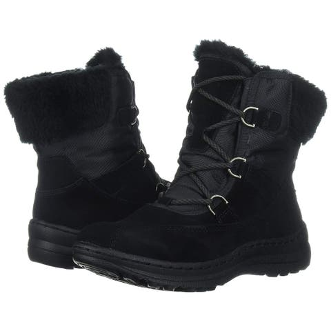 Bare Traps Womens Aero Leather Round Toe Ankle Cold Weather Boots